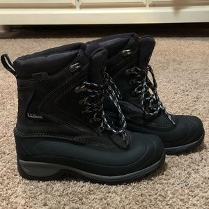 LL Bean Winter Boots Lace Up Size 7